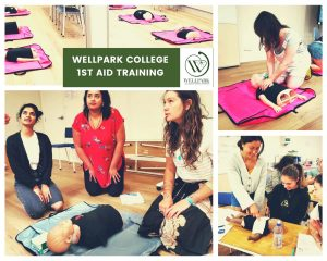 Wellpark College Students 1st aid training